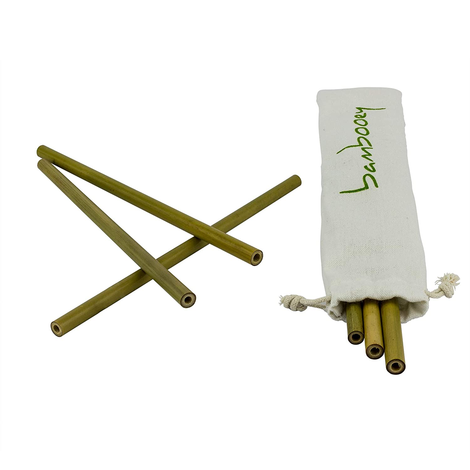 Plastic Drinking Straw Alternative Pack of 6 Reusable and 100/% Biodegradable Bamboo Drinking Straws by bambooey Straw Cleaning Brush Included Environmentally Friendly Drinking Straws