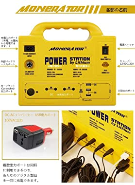 monerator Gusto20 256Wh AC出力75W ソーラーパネル付 ポータブル電源