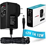 [UL Listed] Chanzon 12V 1A 12W AC DC Switching Power Supply Adapter (Input 100-240V, Output 12 Volt 1 Amp) Wall Wart Transformer Charger for DC12V Security CCTV Camera (6Ft Cord, 12 Watt Max)