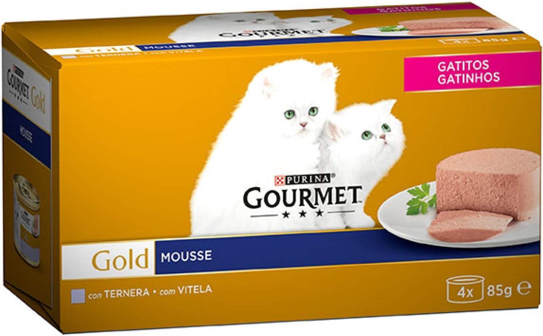 Purina Gourmet Mousse Comida para Gatitos Bebes/Junior con Terneta ...