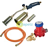 Dapetz ® Propane Butane Gas Torch Burner 2 Metre Hose Regulator Blow Roofers Plumbers Kit