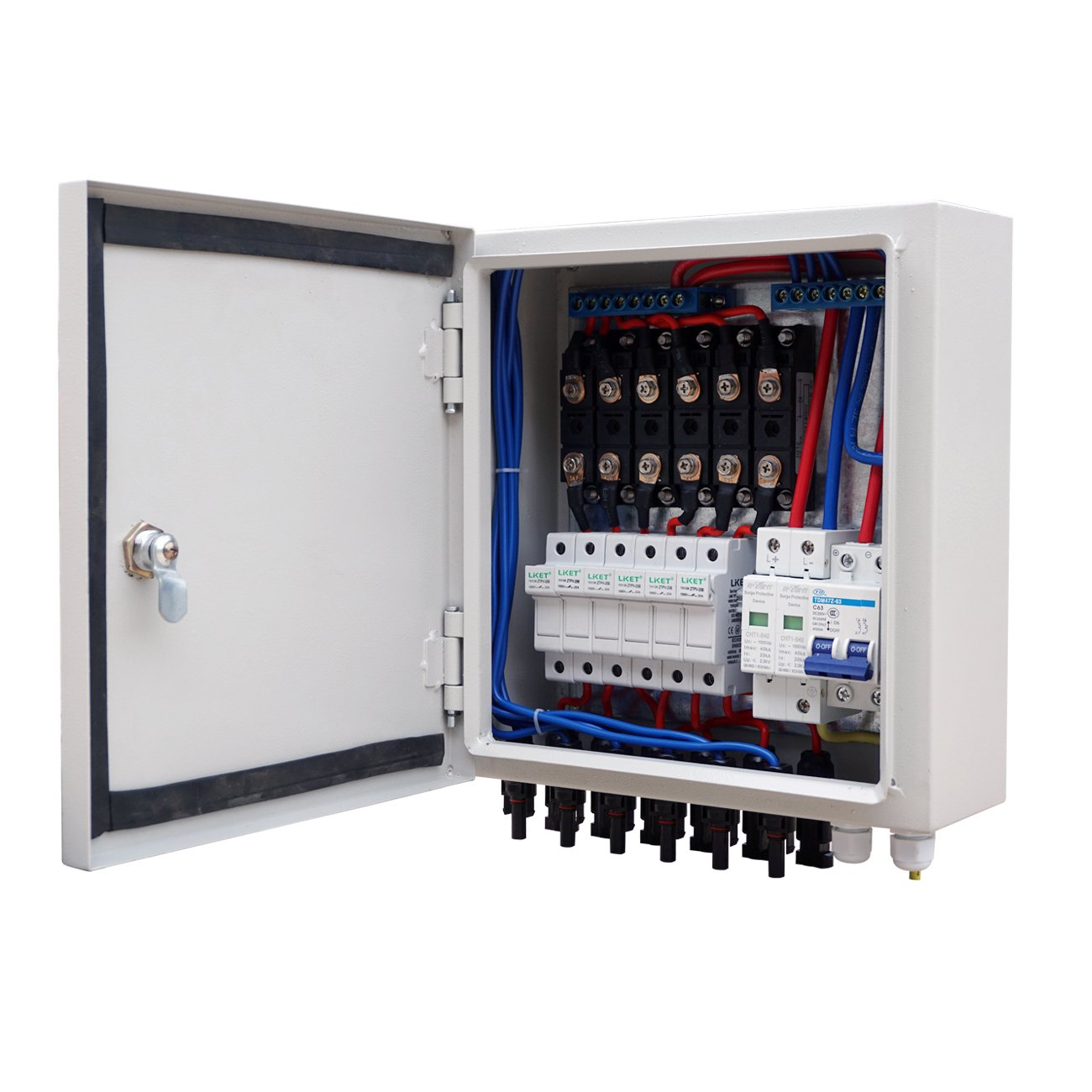 Eco Llc 6 String Pv Combiner Box 10a Breaker For Solar Circuit Panel Image Page Off Grid System Kit Garden Outdoor