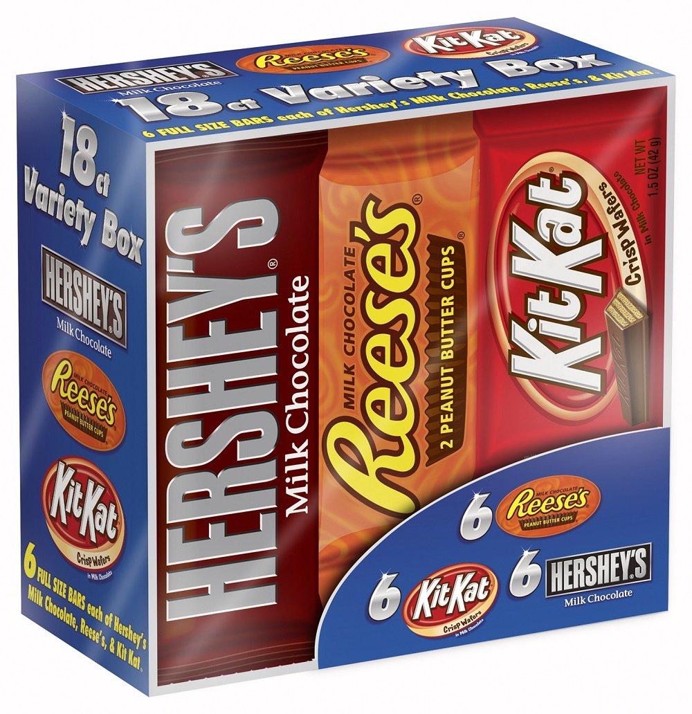 Amazon Com Hershey S Chocolate Candy Bar 18 Count Variety