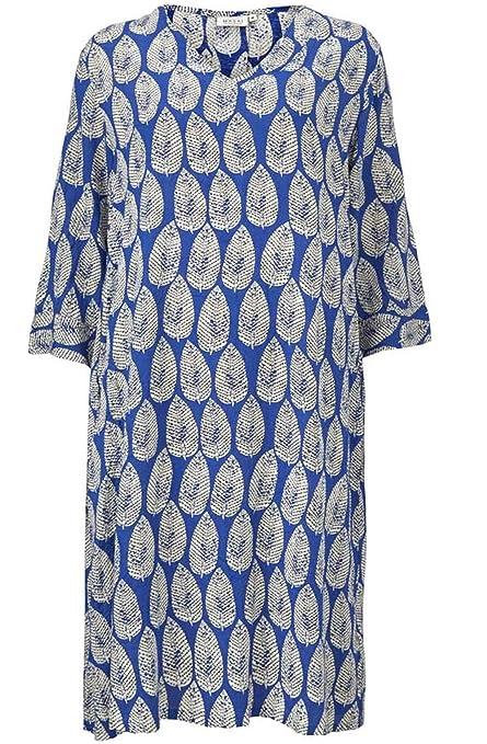 NEW 8-10 12-14 16-18 KASARA Crepe Gathered Waist Tunic Dress Navy Blue S M L