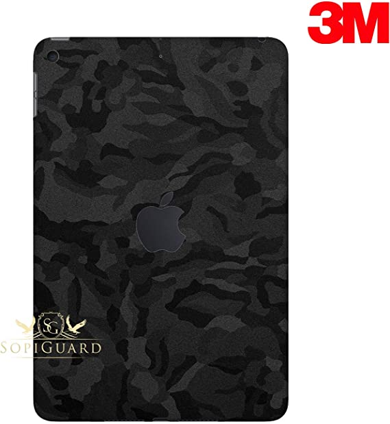 Black And White Swirl SKIN STICKER COVER and 2 protected films for iPad Mini