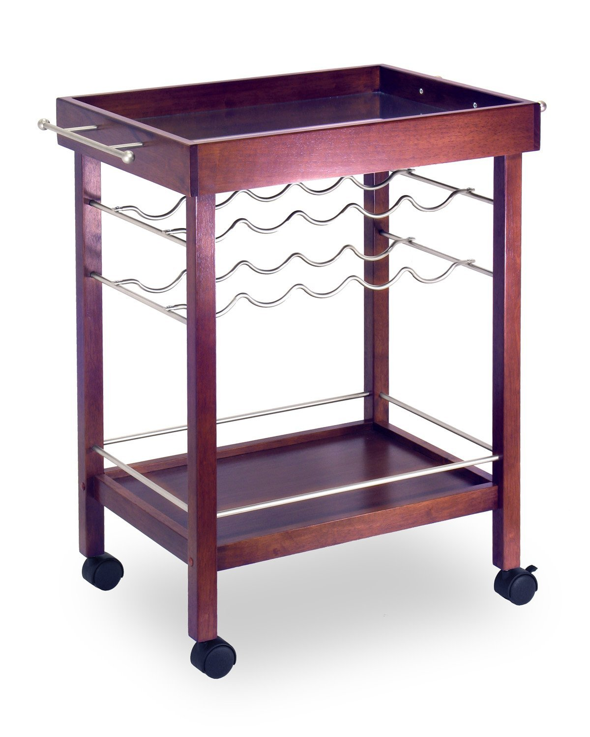 Winsome Wood Bar Cart, Espresso Finish by Winsome