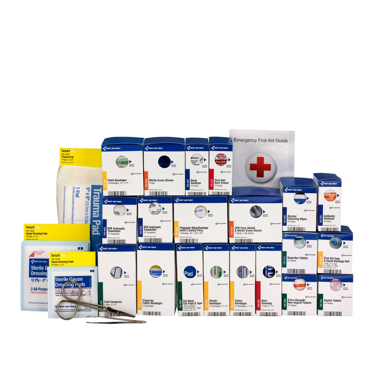 First Aid Only 90613 Large SmartCompliance First Aid Kit Refill Pack ANSI A+ with Meds, Brown