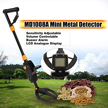 Dailyinshop MD1008A Detector de Metales subterráneo Mano Regalo para niños Juguete Treasure Hunter Gold Digger Finder Impermeable Sensible Ajustable (Color: ...