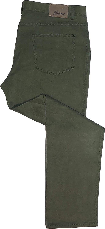 Brioni Men'S Wengen Green Cotton Pants 43