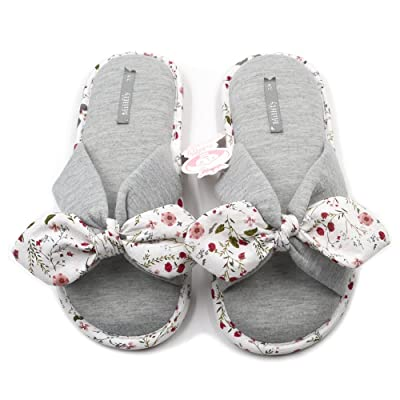 Millffy Summer Floral Print Cotton Slippers Japanese Yellow Daisy Flowers Ladies Thong Slippers   Slippers