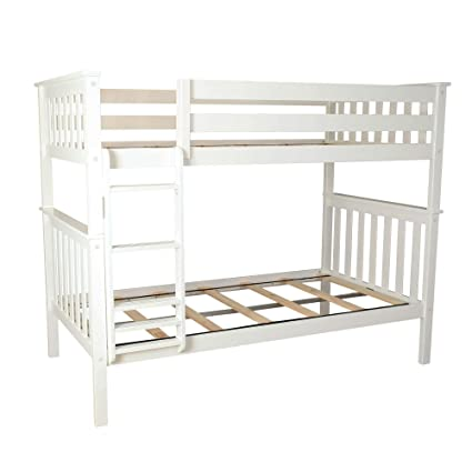 promo code 6f699 402b6 Max & Lily Solid Wood Twin over Twin Bunk Bed, White