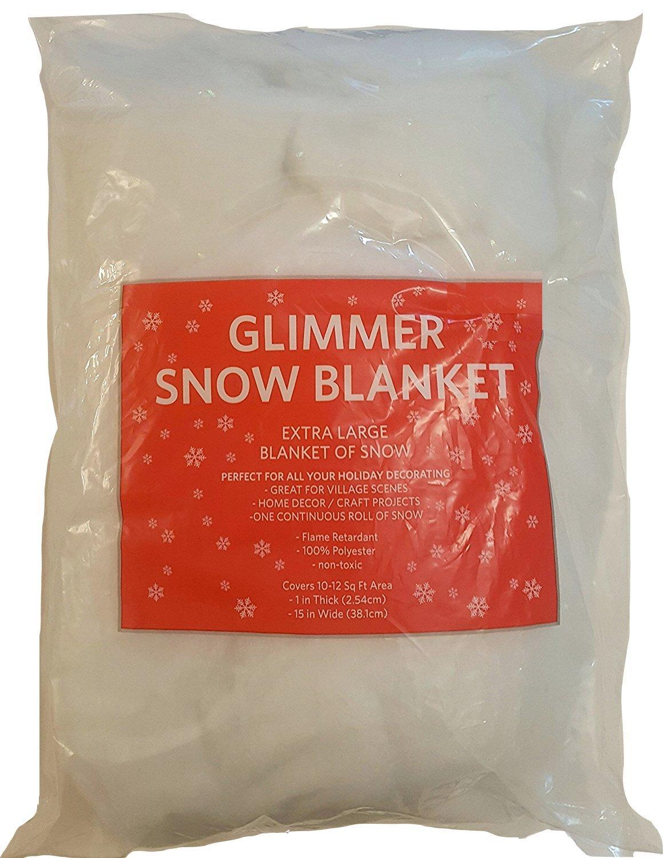 Seasonal Celebrations Glimmer Snow Blanket, 1'' x ''15