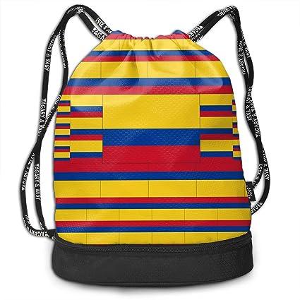 OIVLA Cord Bag Sackpack Colombia Flag Drawstring Bag ...
