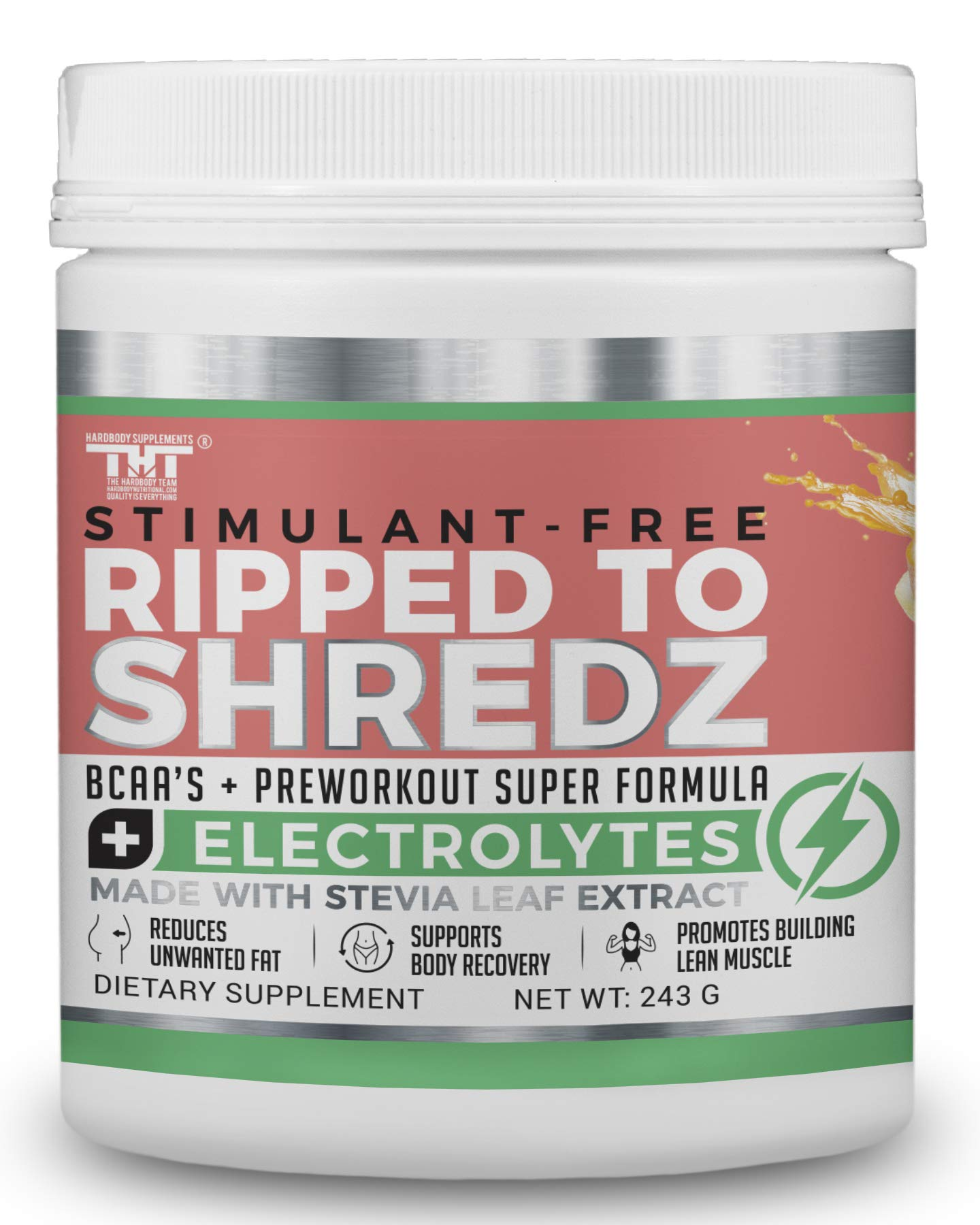 Ripped to Shredz Preworkout Drink for Hardcore Improvement &  Performance.Boosts Energy,Motivation,