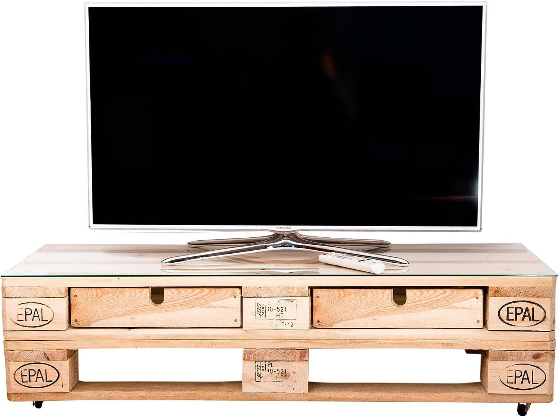 relaxedLiving Mesa de televisión de dimensiones | rústico | con ...
