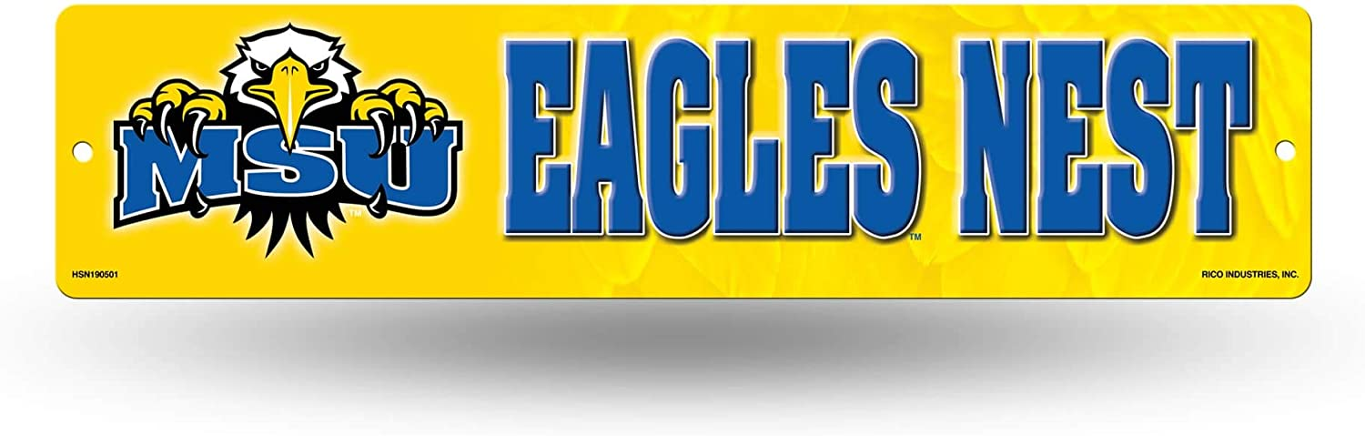 Morehead State Eagles NCAA Rico Industries  16-Inch Plastic Street Sign D/écor