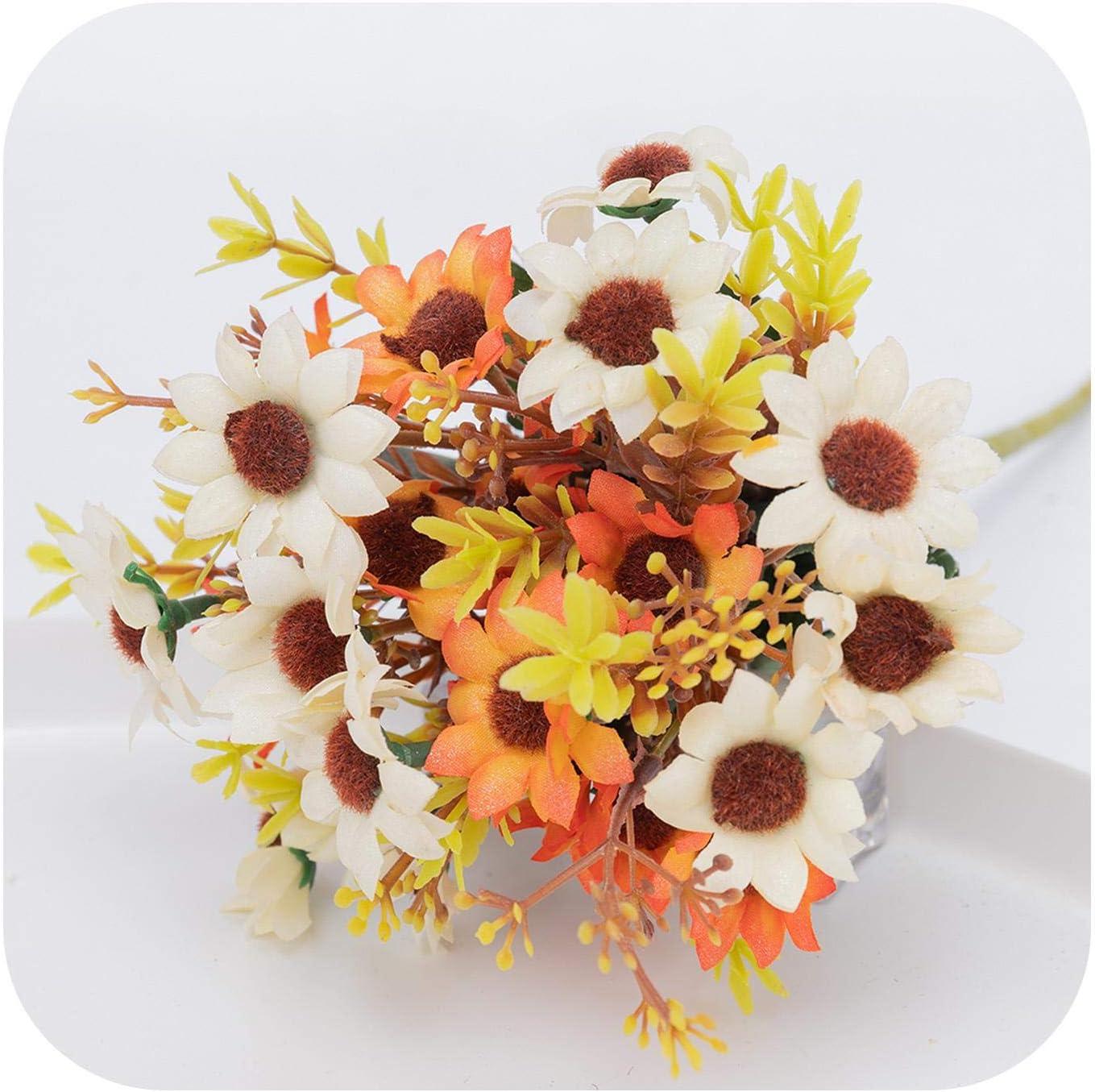 Craft Wedding Decoration Silk Sunflower Artificial Flower Fake Flores Bouquet
