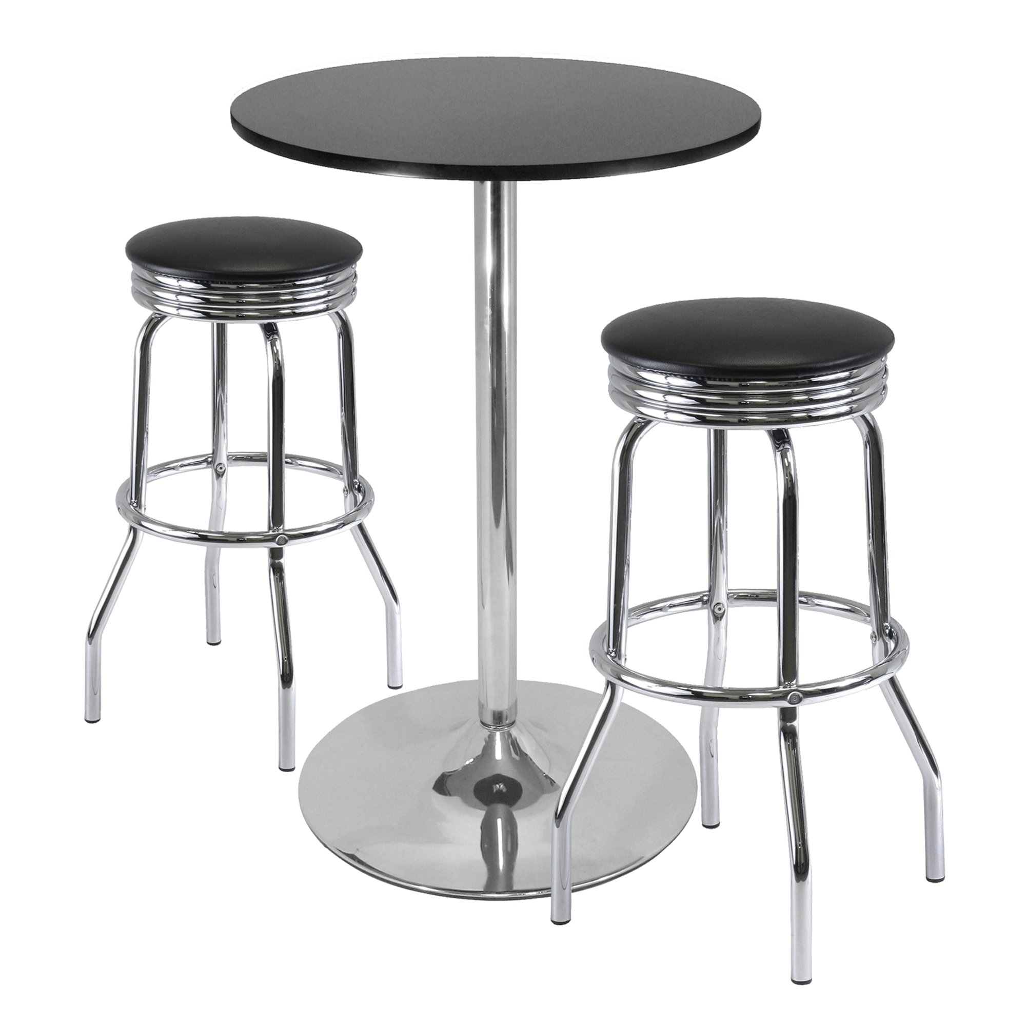 Winsome Summit 3-Piece Pub Table Set with 28-Inch Table and 2 Stools