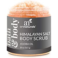 ArtNaturals Himalayan Salt Body Scrub, Deep Cleansing Exfoliator with Shea Butter, Dead Sea Salt, Vitamin C and Essential Oils, Moisturizes, Nourishes Soothes and Promotes Glowing, 20 oz.