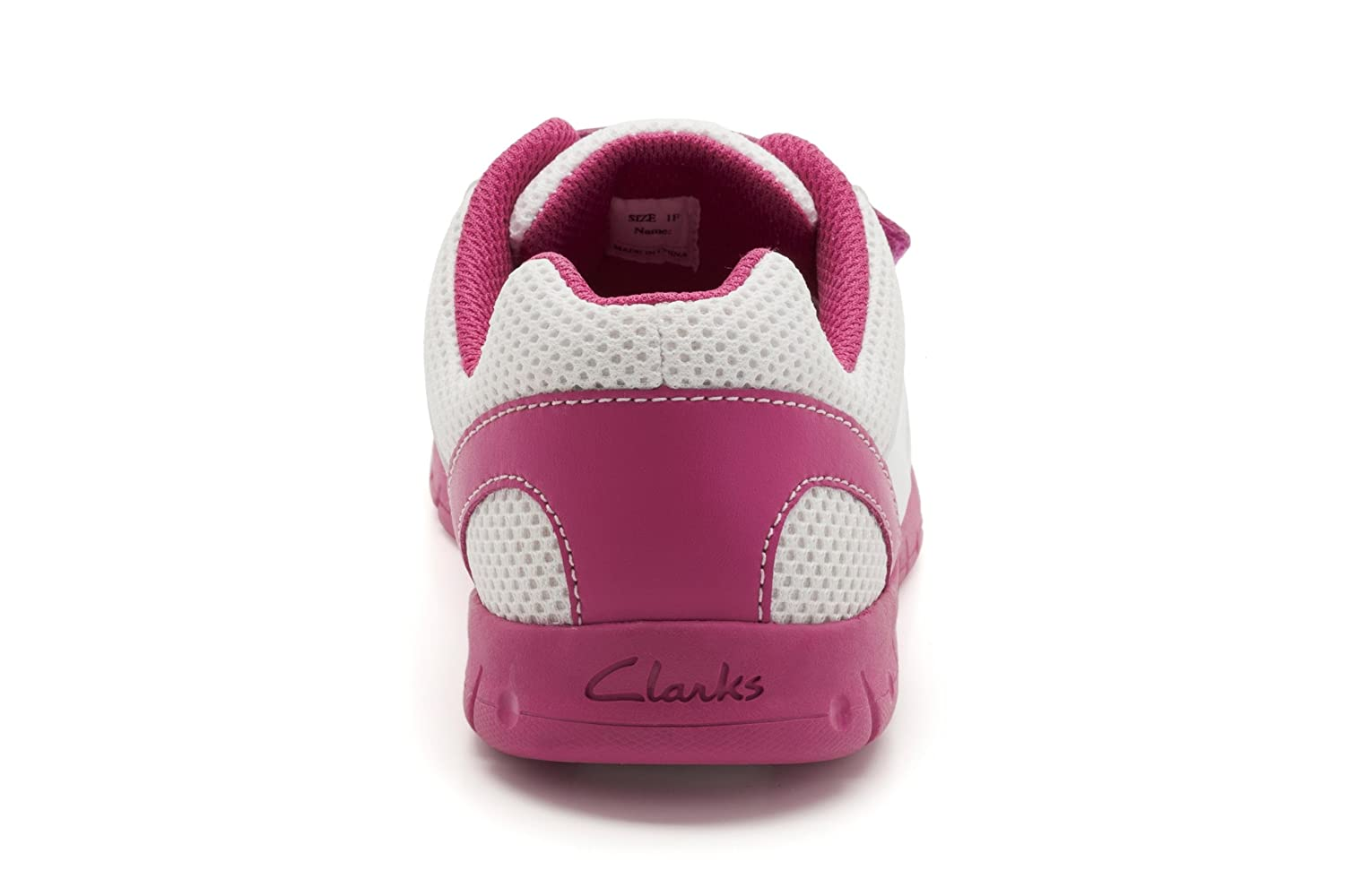d35ed120116df Clarks girls Chute Time G white synthetic trainers size 1 F Eur 33   Amazon.co.uk  Shoes   Bags