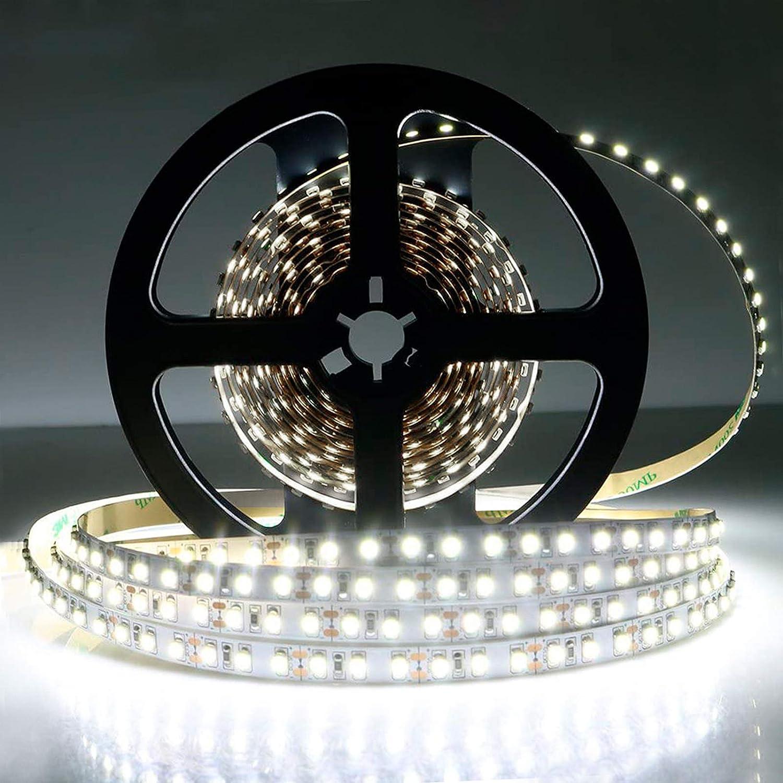16FT 10mm 5M 1200 SMD 3528 LED strip White Warm Light 240Led//m IP20 NP 12V DC