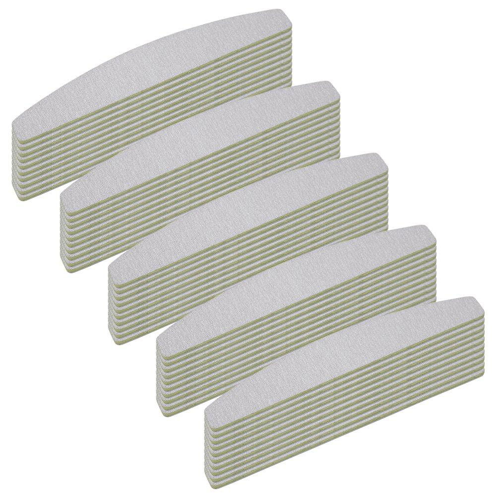 50 Stück Zebrafeile Halbmond Körnung 100/180 - Zebra Ultra Longlife Beschichtung - in Profi Studioqualität NAILFUN ®
