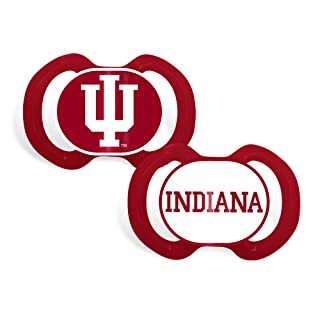 Baby Fanatic 2 Piece Team Colors Pacifier, Indiana