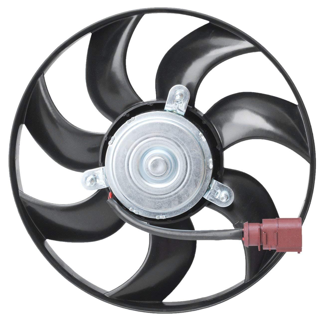 TOPAZ 1K0959455DG Right Engine Cooling Fan Motor for Volkswagen Golf Jetta Passat