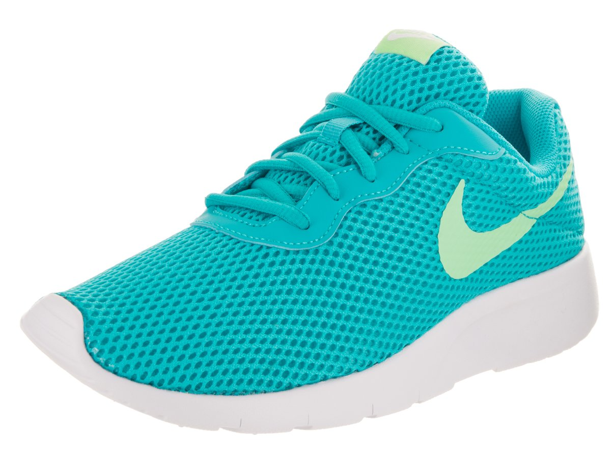 NIKE Kids Tanjun BR (GS) ChlorineBlue/FreshMint/White Running Shoe 4.5 Kids US