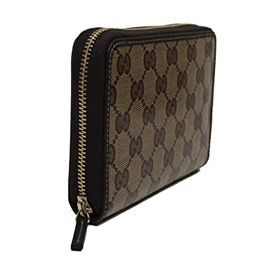 513a412189f Gucci Crystal Beige GG Canvas Brown Leather Women s Zip Around Wallet 420113   Amazon.co.uk  Clothing