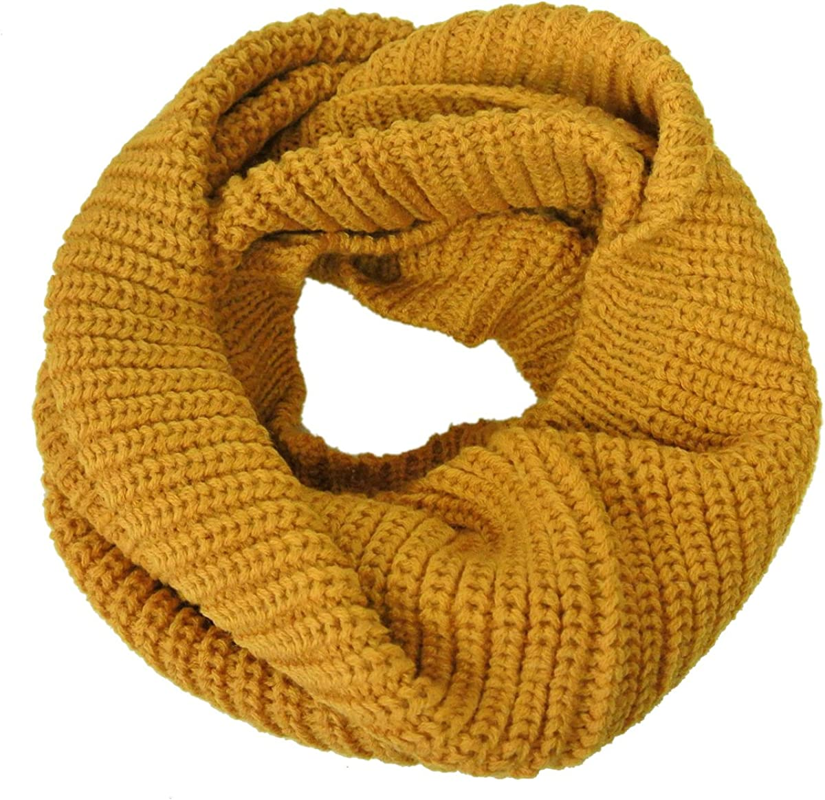 Yellow Wrapables Thick Knitted Winter Warm Infinity Scarf