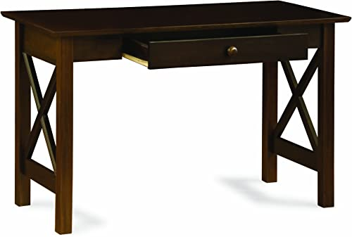 Atlantic Furniture Lexi Writing Desk, Antique Walnut