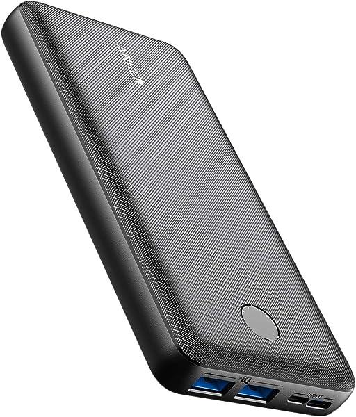 Anker PowerCore Essential 20000 (モバイルバッテリー 超大容量 20000mAh) 【USB-C入力ポート/PSE認証済/PowerIQ/低電流モード搭載】iPhone & Android 各種対応 (ブラック)
