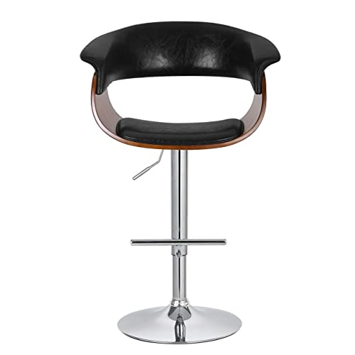 Porthos Home Adjustable Swivel Mansfield Barstool, Black