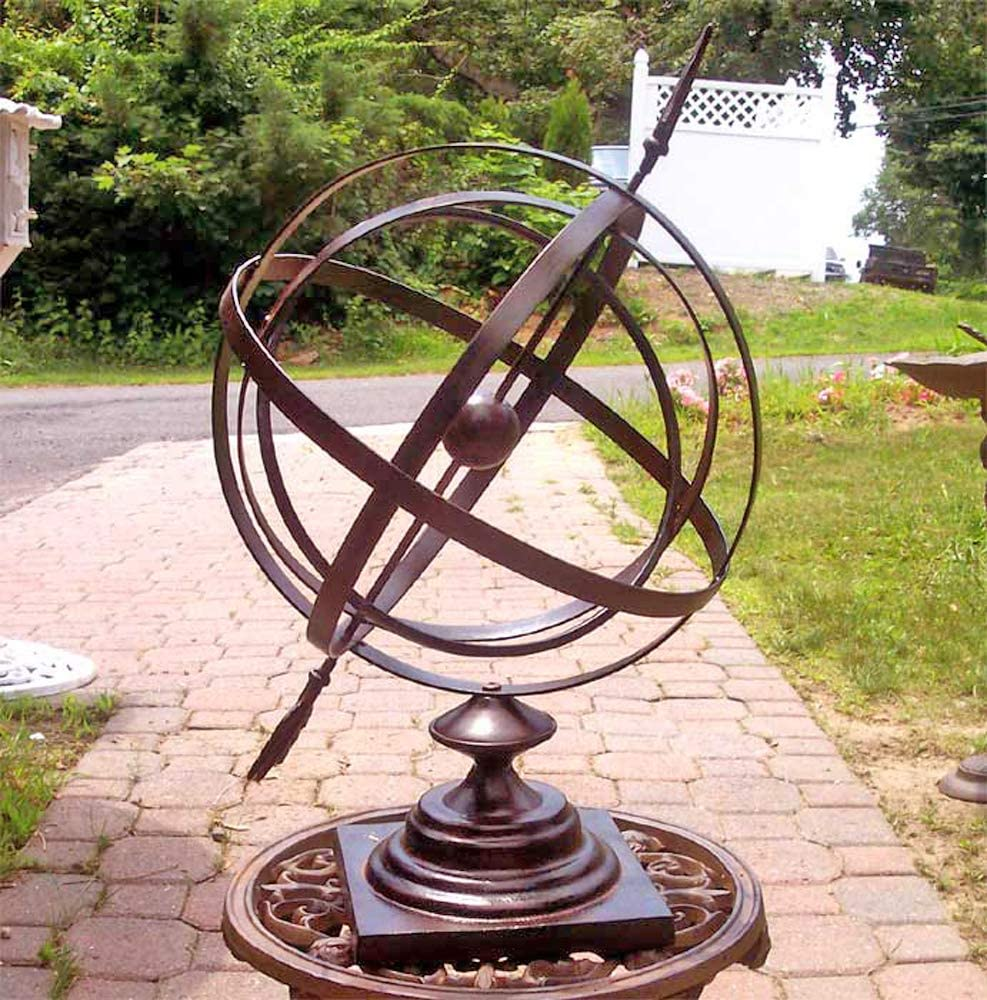 "Large 24"" Iron Arrow Armillary Sphere"