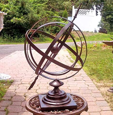Large 24 Iron Arrow Armillary Sphere Amazon Co Uk Garden Outdoors