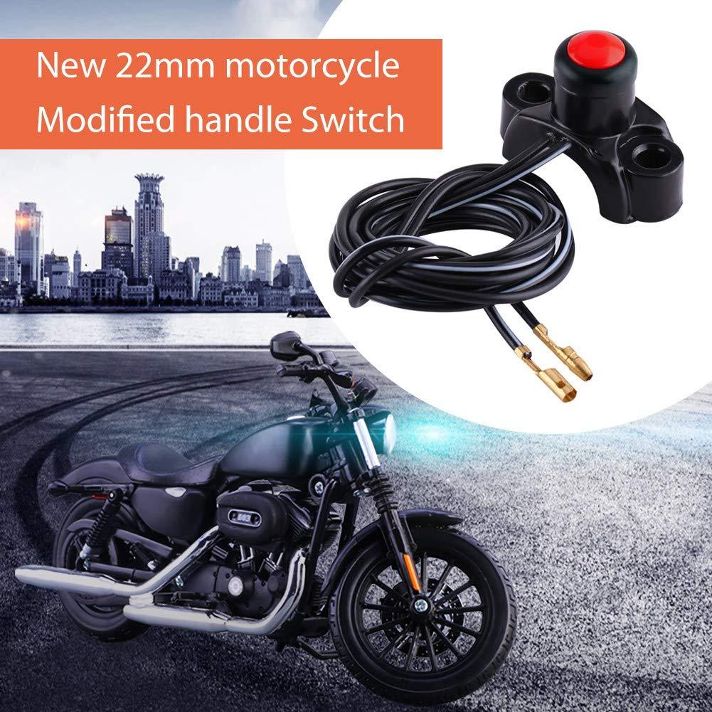 Bot/ón de ON//OFF Interruptor de Manillar 22 mm para Moto Interruptor Arranque Moto C