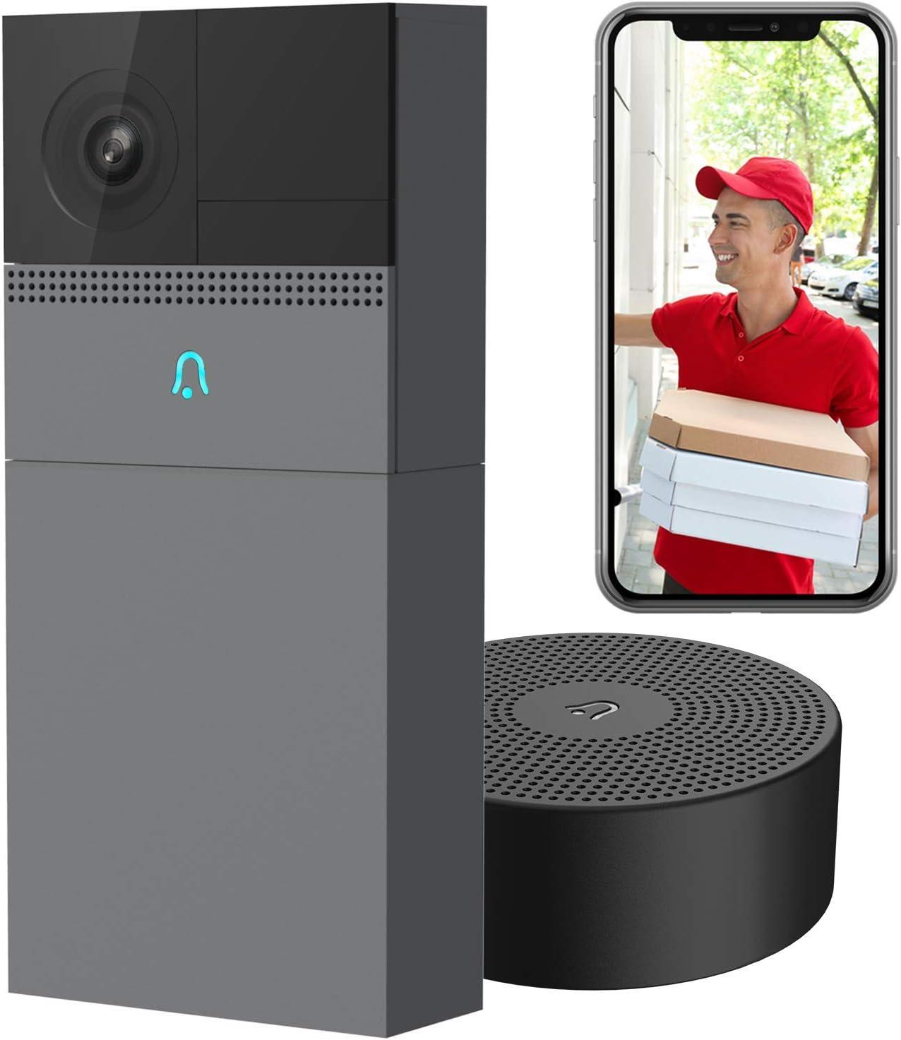 LAXIHUB WiFi Doorbell with FHD Camera