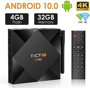 Caja de TV Android 10.0 【4G+32G】, TICTID T6 Pro H616 64 bits ...