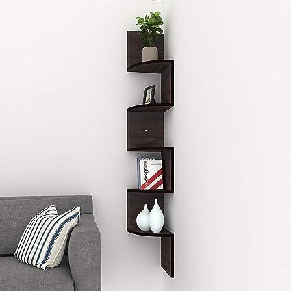 Amazon Com Corner Floating Shelves Modern 5 Tier Corner Shelves