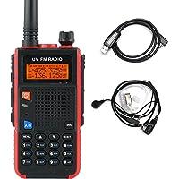 Pofung UV52X Long Range Walkie Talkie 5W Dual Band VHF/UHF 144-148MHz/420-450MHz Handheld Transceiver Rechargerable 2…