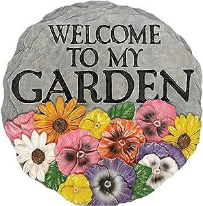 Carson 12779 Welcome to My Garden Garden Stone, Multi