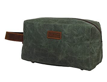 Amazon.com   Canvas Travel Toiletry Bag - Leather Personal Organizer Kit By  Rustic Town (Seaweed Green)   Beauty eda5ea9e2f4b8