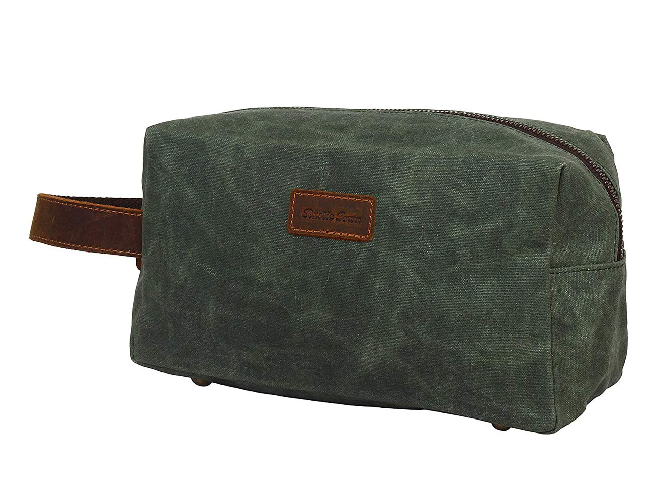 Amazon.com   Canvas Travel Toiletry Bag - Leather Personal Organizer Kit By  Rustic Town (Seaweed Green)   Beauty 2a3dc92111320