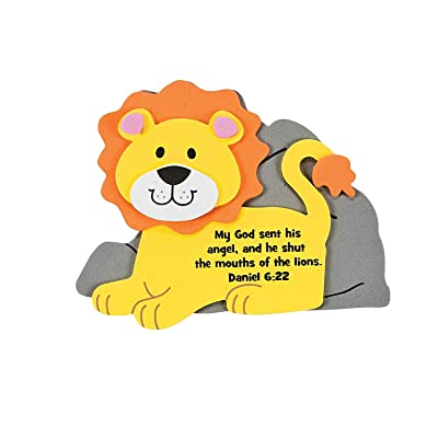 Faith Lion Magnet Craft Kit -12 - Crafts for Kids and Fun Home Activities: Toys & Games