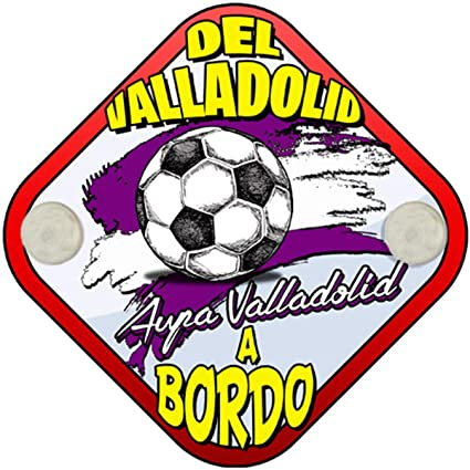 Placa bebé a bordo hincha del Valladolid a bordo