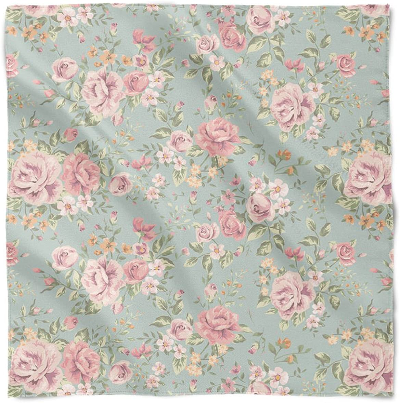 Pastel Floral Wallpaper Satin Style Scarf At Amazon Women S