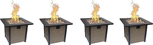 Bond Manufacturing 51846 28in Woodleaf Fire Pit, Black Tan Pack of 4