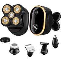 Roziapro 6 in1 Bald LED Display Rechargeable Head Shaver