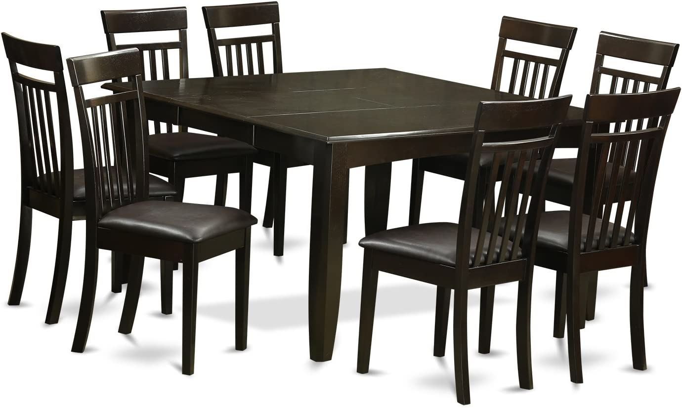 PFCA9-CAP-LC 9 Pc Dining room set-Table and 8 Kitchen Chairs.
